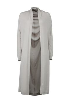 Finely knitted, very elegant long cardigan (to the knee) with long sleeves and two pockets in the front. Jersey trims. Shoulder seams on shoulders. The back and neck have been cut slightly round. The fabric has a subtle silvery glow to it.   Long Cardigan by YAYA. Clothing - Sweaters - Cardigans Netherlands