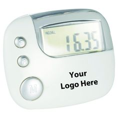 Easy Read Pedometer - 12 Quantity - $4.60 Each - PROMOTIONAL PRODUCT / BULK / BRANDED with YOUR LOGO / CUSTOMIZED. YOUR LOGO HERE. Have your Logo/Brand printed on this product. FREE VIRTUAL PROOF upon request. See how your product looks before you purchase. Orders usually ship 5-7 days after artwork approval. Need it faster? Contact us. How it works? After you place your order, we will email you with instructions on how to send us your artwork/logo. Once we receive your art, we will email...