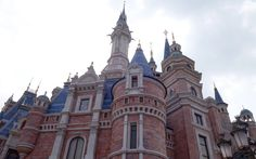 One of the impressive, turreted structures rising up at Shanghai Disney