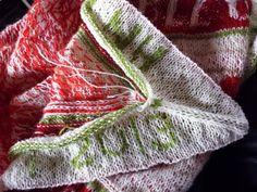Annes indfald: Strik sjaler i mønsterstrik på rundpind. How to increase and decrease in the corners of the borðers of stranded knitted shawls