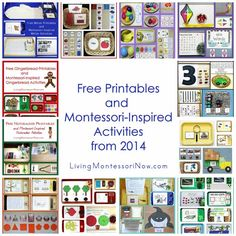 Free Printables and Montessori-Inspired Activities from 2014