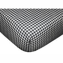 Tadpoles Basics Set Of 2 Fitted Sheets - Black Gingham