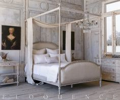 ELOQUENCE® Dauphine King Canopy Bed in Beach House Natural