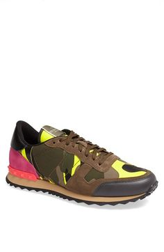 brown sneaker, neon colors, neon sneakers, shoes, colorful shoes, fashion, style, sport chic, sportswear