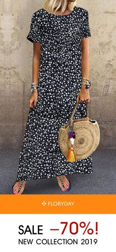 Shop Floryday for affordable Dresses. Floryday offers latest ladies' Dresses collections to fit every occasion. 60 Fashion, Women's Fashion Dresses, Womens Fashion, Fashion Design, Floryday Dresses, Work Dresses, Party Dresses, Summer Outfits, Cute Outfits