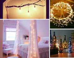 DIY Room Decor with Lights | 18 DIY Room Decor Ideas for Crafters (Who Are Also Renters) | http://diyready.com/diy-room-decor-ideas-for-renters/