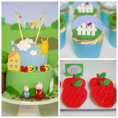 Peppa Pig themed birthday party via Kara's Party Ideas KarasPartyIdeas.com Printables, cake, decor, cupcakes, favors, tutorials, recipes, etc! #peppapig #peppapigparty (2)