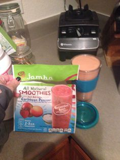 Loving the new #JambaJuice @athomesmoothie from my @Influenster #SurfsUpVoxBox #healthyliving #delicious Caribbean Passion has always been my favorite! Now, I can drink them at home :)  #contest #freebie #coupon