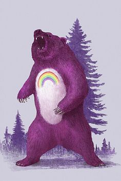 Terry Fan Scare Bear Art Print | DENY Designs Home Accessories