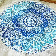 Mandala rond serviette de plage avec franges de plage roundie Tapis de yoga Table Chiffon mur tapisseries: Amazon.fr: Cuisine & Maison