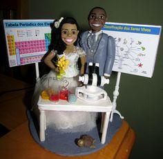 Noivos humanizados - Noiva Química e Noivo Biólogo