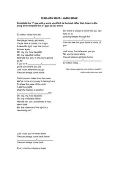 song worksheet see you again by wiz khalifa bingo and fill the gaps pop song teaching. Black Bedroom Furniture Sets. Home Design Ideas