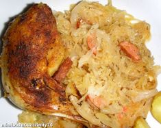 Kuře na zelí. Grains, Rice, Chicken, Meat, Cooking, Food, Kitchen, Eten, Seeds
