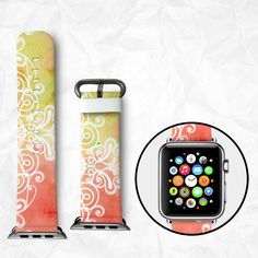 Apple Watch Calf Leather iWatch - iWatch band Apple Watch band Adapter 38mm 42mm Apple Watch Band Watch Strap Wearable Abstract Floral