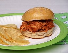 Barbecue Chicken Sandwiches from Cooking Light via Taking On Magazines