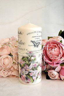 Resultado de imagen para velas decoradas con servilletas de papel