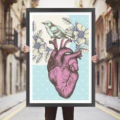 Placa decorativa coração - StickDecor | Decoração Criativa