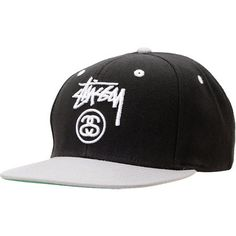 3ebf0a73b1a Stussy Two Tone Black Snapback Hat Stussy Logo