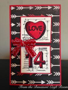 From the Basement Craft Room: Tim Holtz mini valentine blueprint