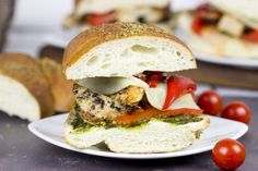 Grilled Chicken Pesto Sandwich by Food Fanatic