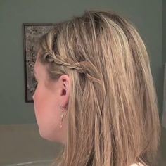 This works for pinning back braids too: | 21 Bobby Pin Hairstyles You Can Do In Minutes