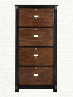 Beautiful 4 Drawer Mahogany Filing Cabinet