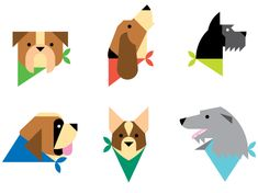 dogs vector icons always with honour