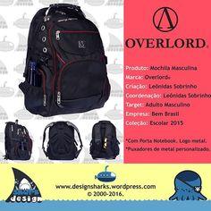 Uma linha top, uma marca forte e um produto mais forte ainda.  #overlord #overlords #backpack #mochilas #schoolbags #productdesign #projectdesign #graphicdesign #kingleonidas #leonidasking #leonidasdesigner #sharks