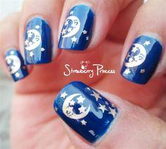 Good night! by vane2190 - Nail Art Gallery nailartgallery.nailsmag.com by Nails Magazine www.nailsmag.com #nailart