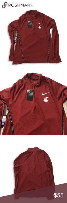 3e2dc3bc NWT Washington State Cougars Nike Dri-Fit Jacket Washington State Cougars Nike  Dri-Fit