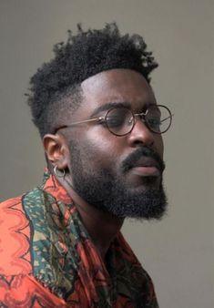 3 4 Face, Male Face, Black Men Hairstyles, Haircuts For Men, Harry Samba, Dark Skin Men, Black Male Models, Handsome Black Men, Black Men Beards