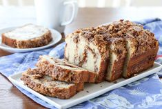 Lots of folks love a good quick bread recipe. Today I'm sharing a delicious and easy Cinnamon Nut Quick Bread. Whether you serve it for breakfast, an afternoon coffee/tea break, or dessert, I know you'll enjoy it! Quick Bread Recipes, Baking Recipes, Cake Recipes, Muffin Recipes, Loaf Recipes, Baking Ideas, Fresh Bread, Sweet Bread, Köstliche Desserts