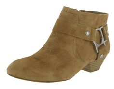 Cute ankle boots  BCBG BCBGeneration Cherries Women's Ankle Boots Suede Harness Booties