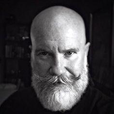 Cool Beard for Bald Men