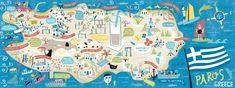 I Draw Maps » Paros, Greece for They Draw & Travel