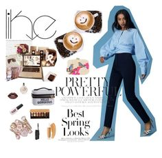 """""""Coffee with bestie"""" by amr-a ❤ liked on Polyvore featuring Microsoft, H&M, Anastasia Beverly Hills, Diane Von Furstenberg, Serpui, MAC Cosmetics, Puma, Valentino and PBteen"""