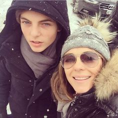 They're just too cute. | Elizabeth Hurley's Gorgeous Son Is Pretty Much Her Twin