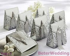 beterwedding.com : Buy Free Shipping 108pcs Silver Ribbon Wedding Favor Box use as dates, chocolate, mint box for wedding or party decoration TH017 from Reliable Silver Ribbon Wedding Favor Box suppliers   Your Unique Wedding Favors, Party Gifts, Gifting   #wedding #baptism #weddinggifts # weddingfavors #party #me #girls http://www.aliexpress.com/store/513753