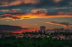 Chisinau in the evening