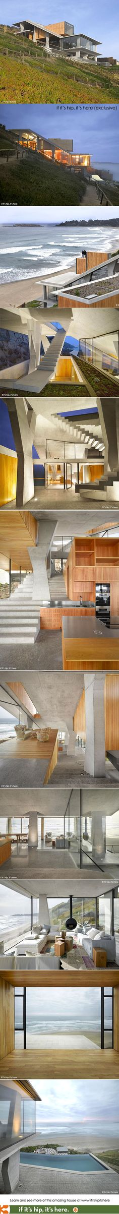 The newly constructed Ghat House in Chile. Wow.