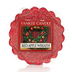 Red Apple Wreath Yankee Candle Company Tarts® Wax Melts - A happy holiday homecoming with the festive aroma of sweet apples, cinnamon, walnuts and maple.