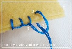 Use this to finish off tooth pillows w/matching thread to pocket(s)! how to do blanket stitch