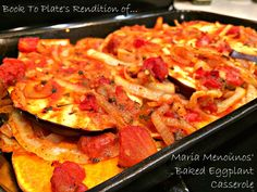 Maria Menounos Papou's Baked Potatoes & Eggplant Casserole, Every Girl's Guide  to Diet & Fitness - Original Recipe had two large white potatoes and no butternut squash