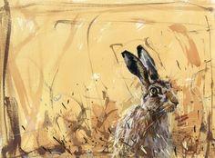 Hare on ochre - James Bartholomew