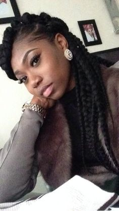 Jumbo Box Braids @keliakiara - http://community.blackhairinformation.com/hairstyle-gallery/braids-twists/jumbo-box-braids-keliakiara/