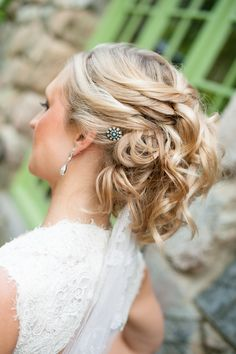 Wedding Hairstyle - See the wedding here: http://www.StyleMePretty.com/2014/05/16/new-england-rustic-wedding/ #SMP - Photography: GrazierPhotography.com