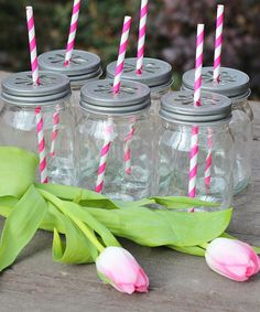 Take a look at this Gray Daisy Cut Mason Jar Lid & Removable Pulp Liner - Set of Six by Sprinkled Joy on #zulily today!
