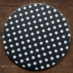 Letterpress Black and White Polka Dot Coasters by Pheasant Press. Perfect Wedding Table Decor!