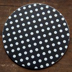 Letterpress Black and White Polka Dot Coasters by Pheasant Press. Perfect Wedding Table Decor!
