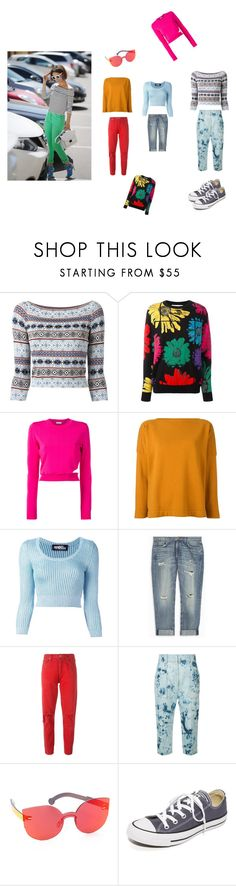 """Jumper Look..**"" by yagna ❤ liked on Polyvore featuring Alexander McQueen, Moschino, Thierry Mugler, Studio Nicholson, Jeremy Scott, Current/Elliott, Citizens of Humanity, Victor Alfaro, RetroSuperFuture and Converse"